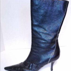 Bruno Magli half calf pointed toe boots